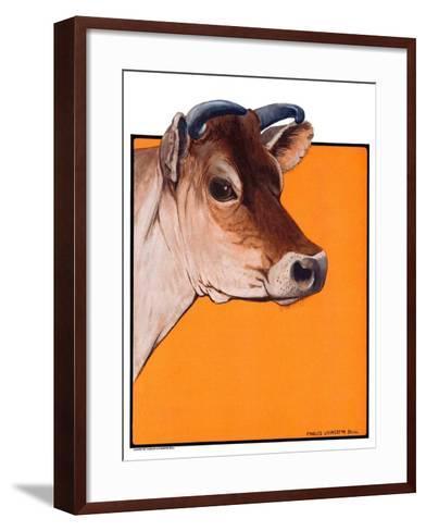 """Dairy Cow,""May 12, 1923-Charles Bull-Framed Art Print"