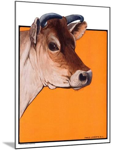 """""""Dairy Cow,""""May 12, 1923-Charles Bull-Mounted Giclee Print"""