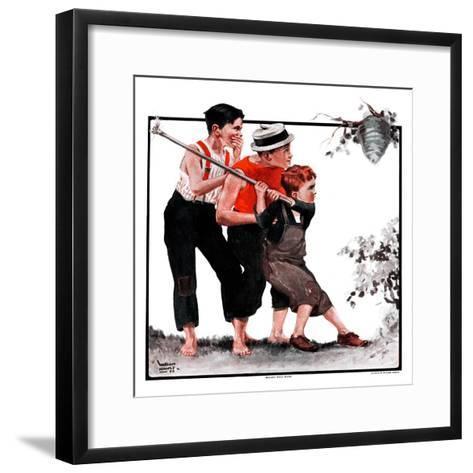 """""""Hornets' Nest,""""August 25, 1923-WM. Hoople-Framed Art Print"""