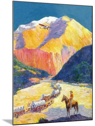 """""""Westward Ho!,""""March 1, 1931-Frederick Anderson-Mounted Giclee Print"""