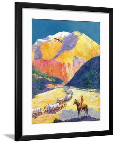 """Westward Ho!,""March 1, 1931-Frederick Anderson-Framed Art Print"