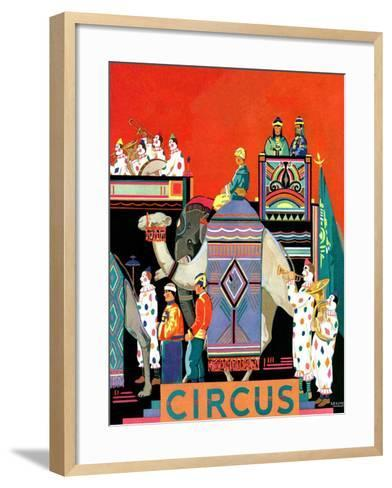 """Circus Parade,""May 1, 1931- Kraske-Framed Art Print"