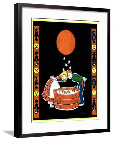 """Bumping Bobbing for Apples,""October 1, 1931-W. P. Snyder-Framed Art Print"