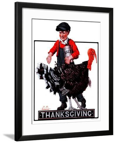 """""""Thanksgiving,""""November 24, 1923-J^F^ Kernan-Framed Art Print"""
