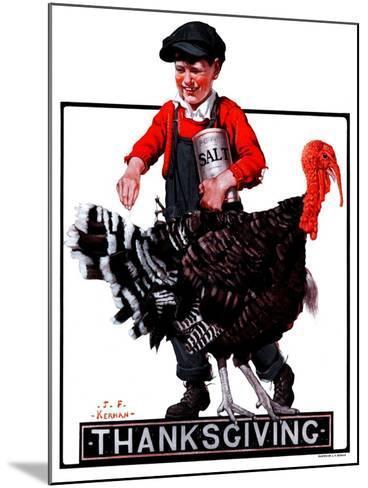 """""""Thanksgiving,""""November 24, 1923-J^F^ Kernan-Mounted Giclee Print"""