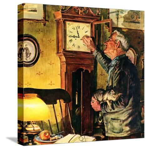 """""""Father and Time,""""March 1, 1946-W^C^ Griffith-Stretched Canvas Print"""