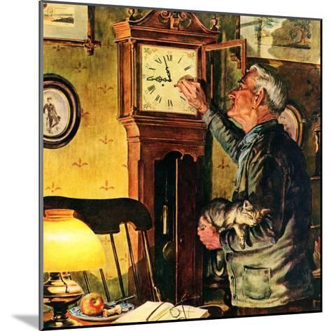 """""""Father and Time,""""March 1, 1946-W^C^ Griffith-Mounted Giclee Print"""