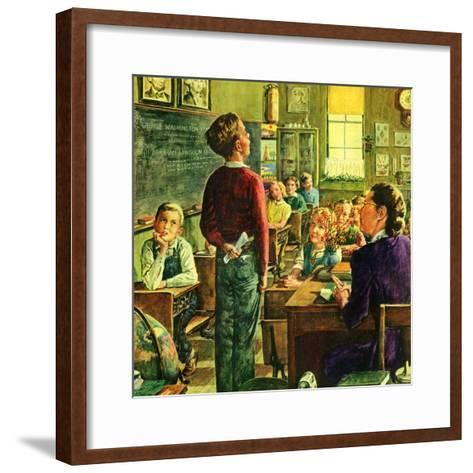 """Oral Report,""February 1, 1947-W^C^ Griffith-Framed Art Print"