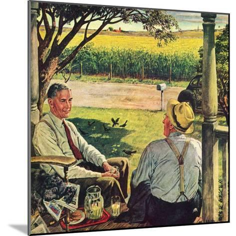 """Summer on the Farmhouse Porch,""August 1, 1947-W^C^ Griffith-Mounted Giclee Print"