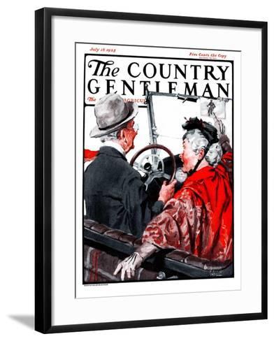"""Speeding Oldsters,"" Country Gentleman Cover, July 18, 1925-William Meade Prince-Framed Art Print"