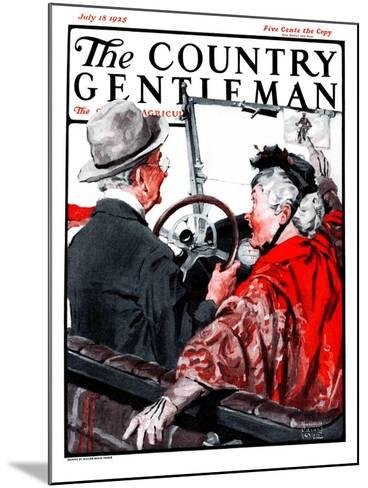 """""""Speeding Oldsters,"""" Country Gentleman Cover, July 18, 1925-William Meade Prince-Mounted Giclee Print"""