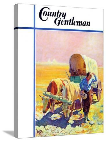 """""""Lost in the Desert,"""" Country Gentleman Cover, July 1, 1938-Charles Hargens-Stretched Canvas Print"""