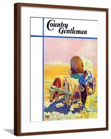 """""""Lost in the Desert,"""" Country Gentleman Cover, July 1, 1938-Charles Hargens-Framed Art Print"""