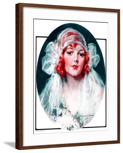 """June Bride,""June 7, 1924-J^ Knowles Hare-Framed Art Print"