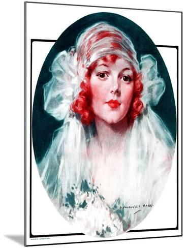 """""""June Bride,""""June 7, 1924-J^ Knowles Hare-Mounted Giclee Print"""