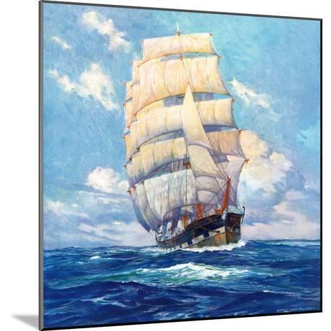 """""""Three Masted Schooner,""""March 1, 1932-Anton Otto Fischer-Mounted Giclee Print"""