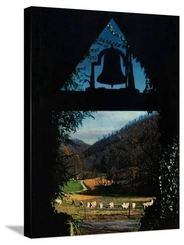 """""""View from the Belltower,""""November 1, 1948-Arthur Dodd-Stretched Canvas Print"""