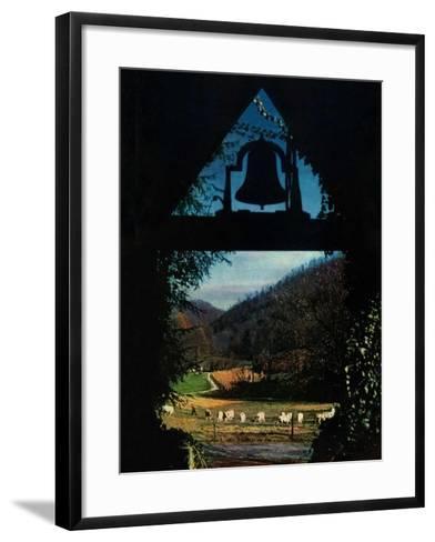 """""""View from the Belltower,""""November 1, 1948-Arthur Dodd-Framed Art Print"""