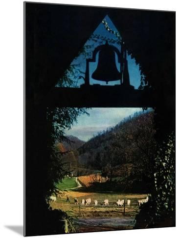 """View from the Belltower,""November 1, 1948-Arthur Dodd-Mounted Giclee Print"