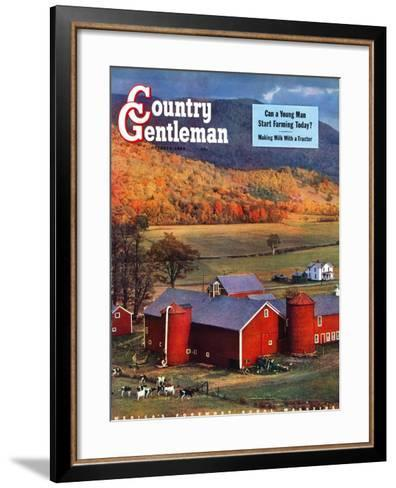 """Red Barns and Silos,""October 1, 1949-W^C^ Griffith-Framed Art Print"