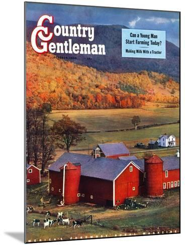 """Red Barns and Silos,""October 1, 1949-W^C^ Griffith-Mounted Giclee Print"
