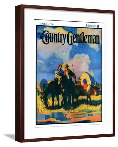 """Wagon Train,"" Country Gentleman Cover, March 1, 1926-R.W. Crowther-Framed Art Print"