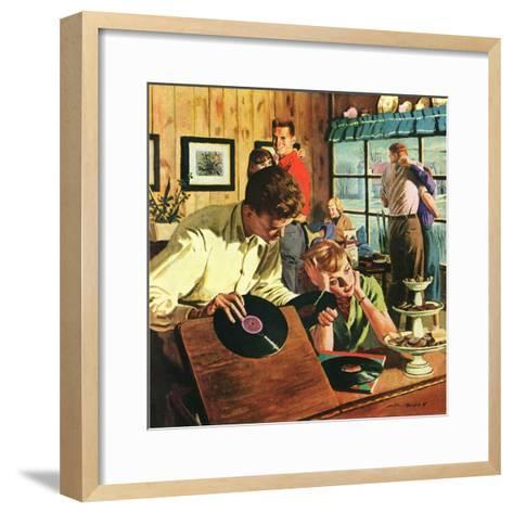 """Teenage Party,""March 1, 1950-Austin Briggs-Framed Art Print"