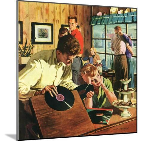 """""""Teenage Party,""""March 1, 1950-Austin Briggs-Mounted Giclee Print"""