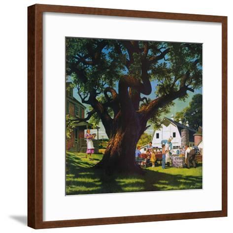 """Cookout,""August 1, 1950-George Bingham-Framed Art Print"