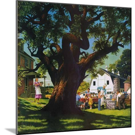 """""""Cookout,""""August 1, 1950-George Bingham-Mounted Giclee Print"""