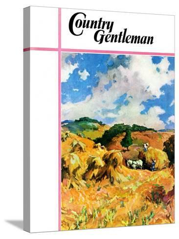 """""""Harvest Wheat,"""" Country Gentleman Cover, September 1, 1940--Stretched Canvas Print"""