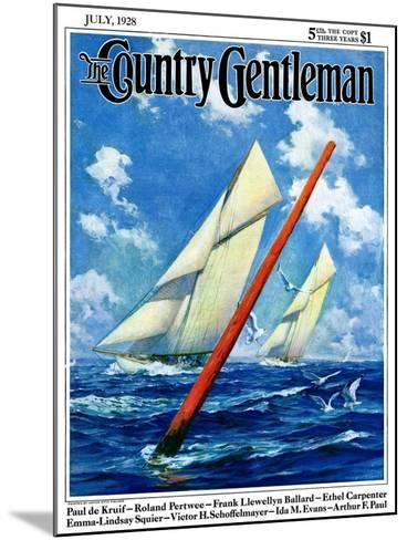 """Sailboat Race,"" Country Gentleman Cover, July 1, 1928-Anton Otto Fischer-Mounted Giclee Print"