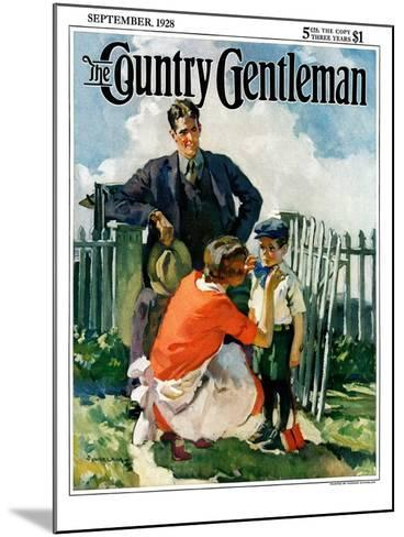 """""""First Day of School,"""" Country Gentleman Cover, September 1, 1928-Haddon Sundblom-Mounted Giclee Print"""