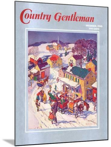 """""""Christmas in Town,"""" Country Gentleman Cover, December 1, 1940-Henry Soulen-Mounted Giclee Print"""
