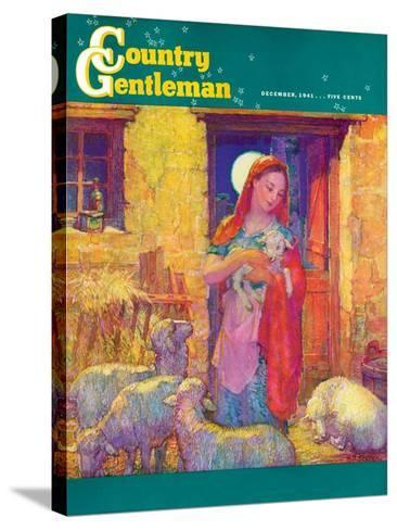 """Sheep in Jerusalem,"" Country Gentleman Cover, December 1, 1941-Henry Soulen-Stretched Canvas Print"