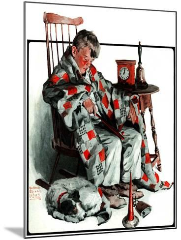 """""""Waiting for the New Year,""""January 3, 1925-William Meade Prince-Mounted Giclee Print"""