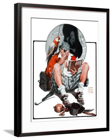 """Pirate's Love Story,""January 24, 1925-William Meade Prince-Framed Art Print"