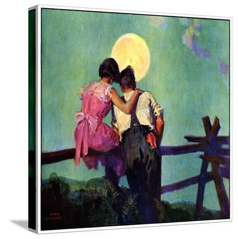 """""""Full Moon Romance,""""October 1, 1934-Phil Lyford-Stretched Canvas Print"""