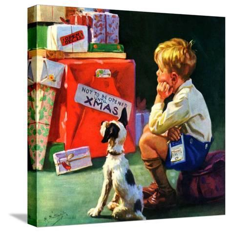 """""""Do Not Open Until Christmas,""""December 1, 1934-Henry Hintermeister-Stretched Canvas Print"""