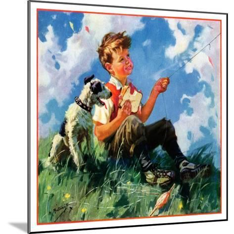 """""""Kite Flying,""""March 1, 1935-Henry Hintermeister-Mounted Giclee Print"""