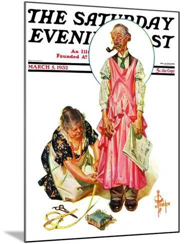 """""""Living Mannequin,"""" Saturday Evening Post Cover, March 5, 1932-Joseph Christian Leyendecker-Mounted Giclee Print"""