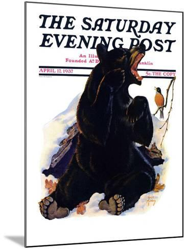 """""""End of Hibernation,"""" Saturday Evening Post Cover, April 17, 1937-Jack Murray-Mounted Giclee Print"""