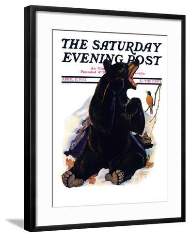 """End of Hibernation,"" Saturday Evening Post Cover, April 17, 1937-Jack Murray-Framed Art Print"