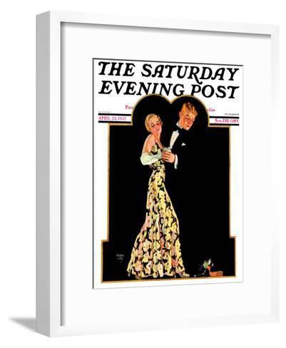 """Lost Suspender,"" Saturday Evening Post Cover, April 23, 1932-Frank Lea-Framed Art Print"