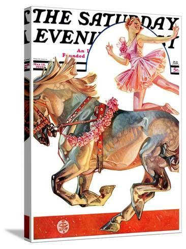 """Circus Bareback Rider,"" Saturday Evening Post Cover, May 14, 1932-Joseph Christian Leyendecker-Stretched Canvas Print"