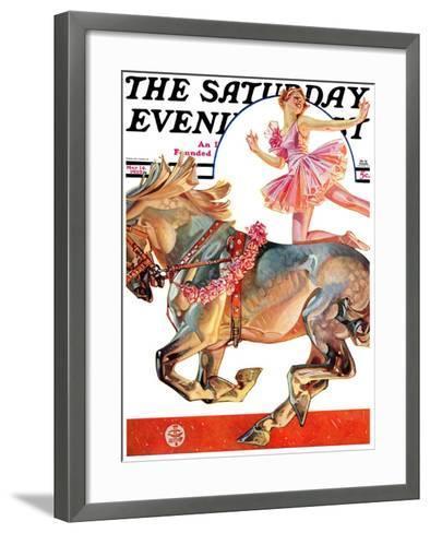 """Circus Bareback Rider,"" Saturday Evening Post Cover, May 14, 1932-Joseph Christian Leyendecker-Framed Art Print"