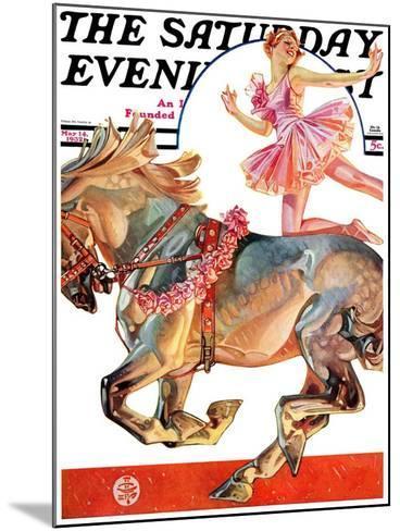 """Circus Bareback Rider,"" Saturday Evening Post Cover, May 14, 1932-Joseph Christian Leyendecker-Mounted Giclee Print"