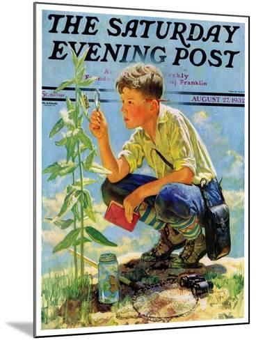 """""""Boy Botanist,"""" Saturday Evening Post Cover, August 27, 1932-Eugene Iverd-Mounted Giclee Print"""