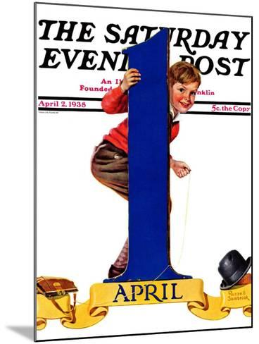 """""""April Fool's Day,"""" Saturday Evening Post Cover, April 2, 1938-Russell Sambrook-Mounted Giclee Print"""