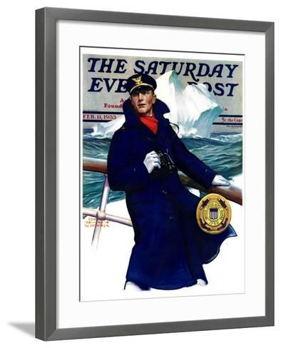 """Coast Guard,"" Saturday Evening Post Cover, February 11, 1933-Edgar Franklin Wittmack-Framed Art Print"